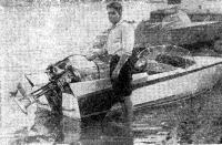 А. Петрашаускас у своего катера