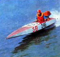 Абсолютный победитель соревнований в классе SB-350 Е. Семенов