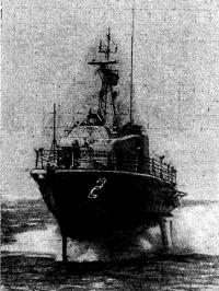 Американский корабль на подводных крыльях «Тэкамкари»