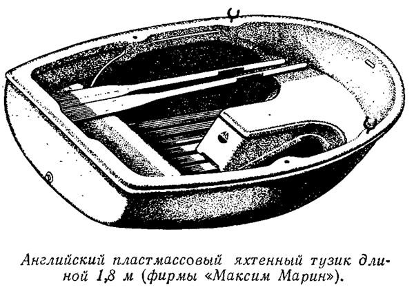 Английский пластмассовый яхтенный тузик