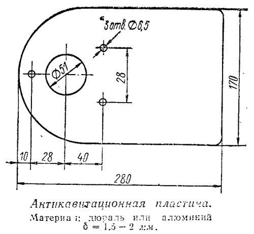 Крыло для лодочного мотора своими руками чертежи 38