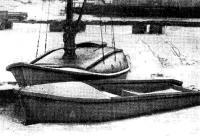 Армоцементная яхта «Цементал» и катер «Стеклоцемент» зимуют во льду