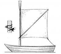 Аварийный шпринтовый парус на лодке