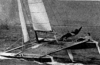 Австралийский катамаран «Квест-II» на дистанции