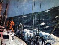 Бернар Муатисье на палубе «Джошуа» в Индийском океане