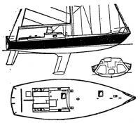 Боковой вид, план и сечение корпуса «Пан Дюика V»