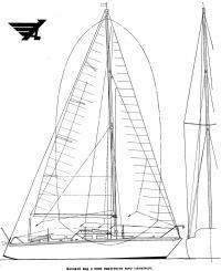 Боковой вид яхты Аметист