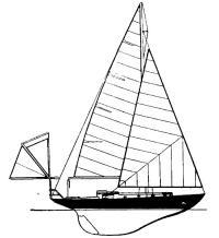Боковой вид яхты «Джипси Мот III» Ф. Чичестера