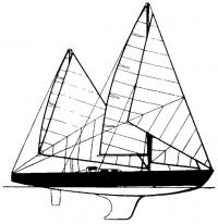 Боковой вид яхты Пан Дюик II