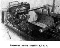 Бортовой мотор «Кениг» 1,5 л. с.
