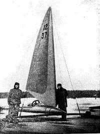 Буер с жестким крылом конструкции С. В. Витта
