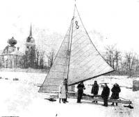 Буер В. Кочегина в Новой Ладоге. Фото военных лет.