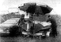 Черемшенцев готовит свою лодку