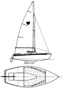 Чертеж яхты «Ас де Кёр»