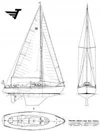 Чертежи общего вида яхты Топаз