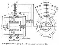 Четырехлопастной ротор Н=210 мм