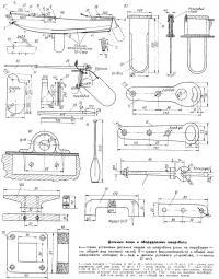 Дельные вещи и оборудование швертбота