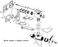 Детали корпуса и подвески колонки