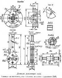 Детали рукоятки газа