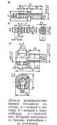 Детали усовершенствованной топливной системы