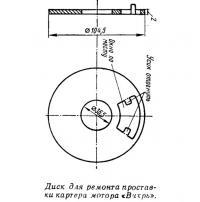 Диск для ремонта проставки картера мотора «Вихрь»