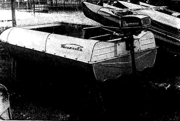 Двухместная разборная «Калужанка» с моторчиком «Спутник»