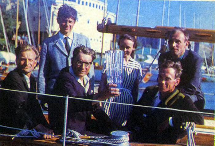 Экипаж яхты-победителя «Сольвейг» - капитан К. Бойков