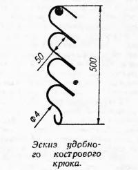 Эскиз удобного кострового крюка