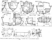 Эскизы для килевых вариантов яхты
