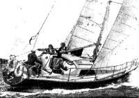 Финская яхта «Z» типа «Скампи» под большой генуей