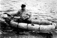 Фото лодки с установленным мотором