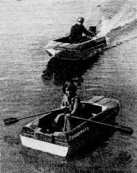 Фото мотолодки с веслами и с мотором