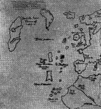 Фрагмент карты с изображением Винланда в виде острова