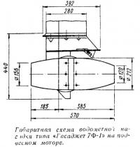 Габаритная схема водометной насадки «Гасаджет 7Ф-1»