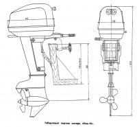 Габаритный чертеж мотора «Ока-16»