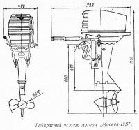 Габаритный чертеж мотора