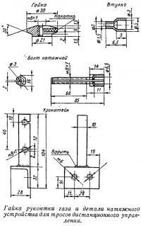Гайка рукоятки газа и детали натяжного устройства