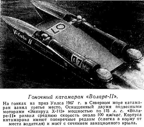Гоночный катамаран «Воларе-II»