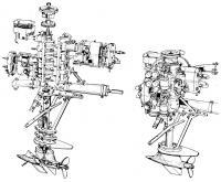 Гоночный мотор Гетце-Кениг в разобранном виде и в сборе