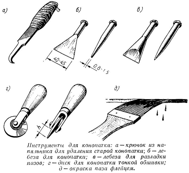Лопатка для конопатки своими руками 25