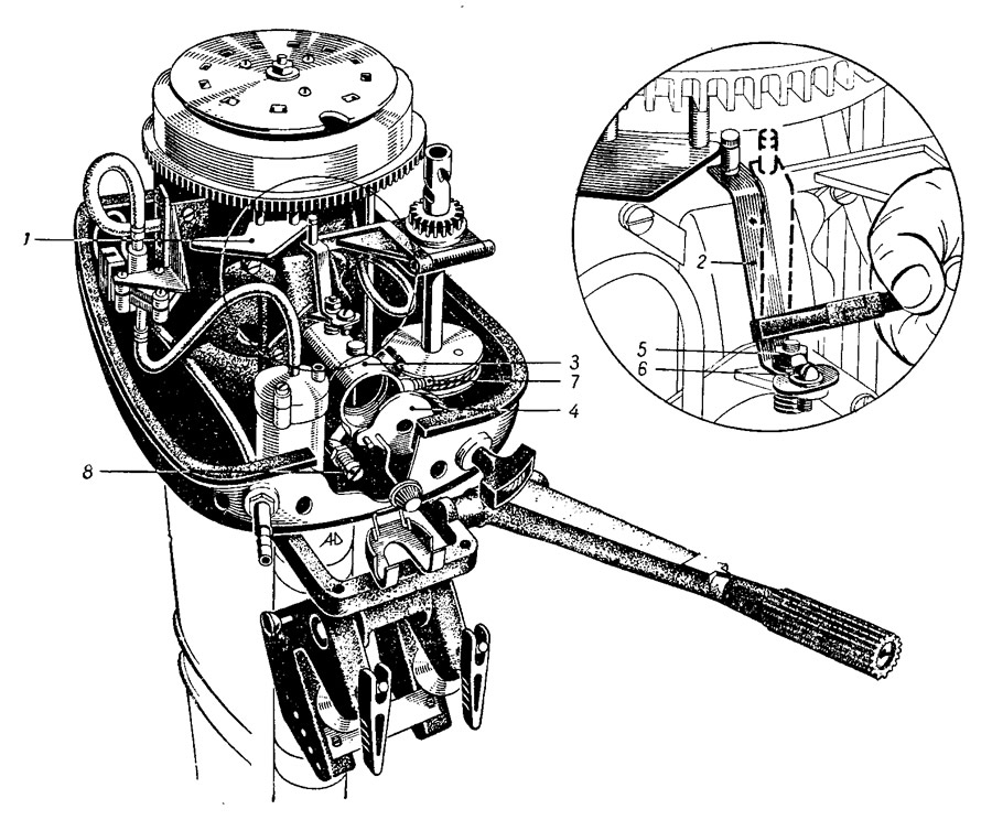 иголка в карбюратор лодочного мотора