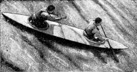 Каноэ-двойка на реке Амате (1966 г.)