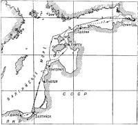 Карта похода Ленинград - Гдыня - Ленинград
