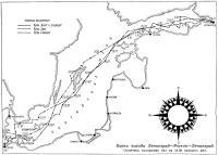 Карта похода Ленинград—Росток—Ленинград