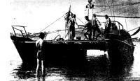 Катамаран «Перун» на воде