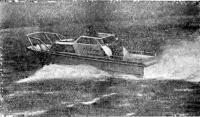 Катер на мореходных испытаниях