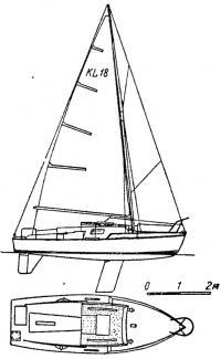 «KL» — килевая каютная яхта с рулем на плавнике