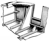 Конструкция корпуса (вид на переборку 4 шп. с кормы)