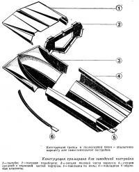 Конструкция транца и подмогорной ниши аналогично варианту для самостоятельной постройки