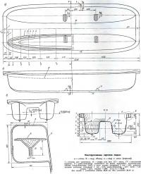 Конструктивные чертежи лодки